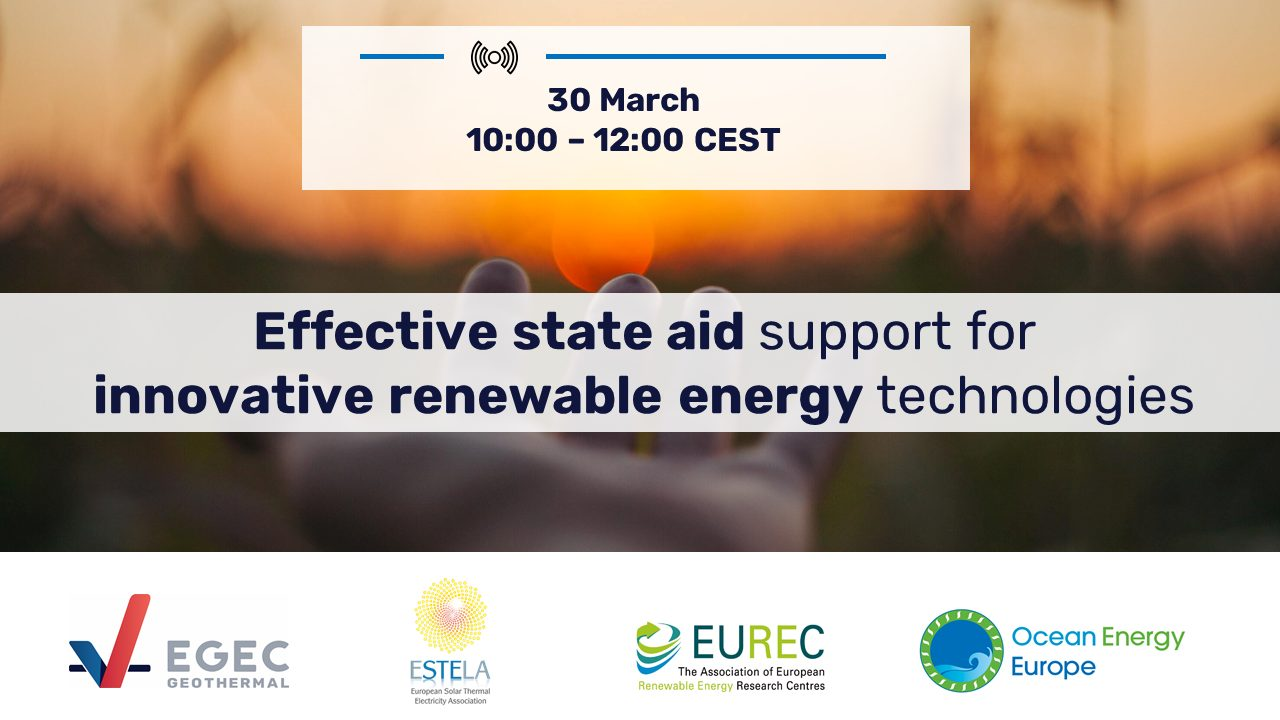 Effective state aid support for innovative renewable energy technologies