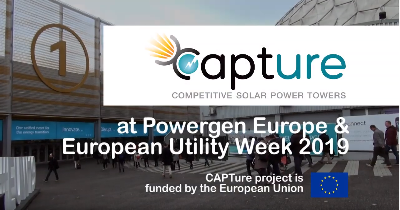 EUREC PROJECT / CAPTure – Competititve Solar Power Towers at Powergen & European Utility Week 2019