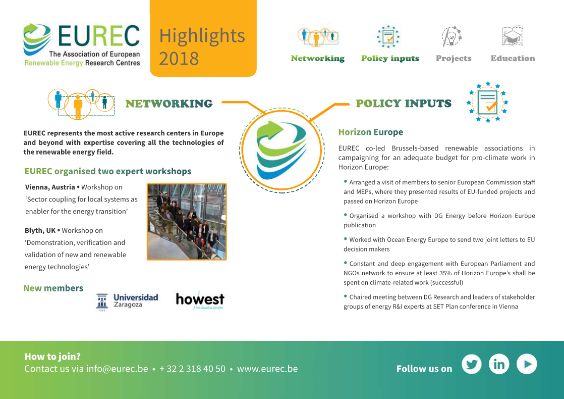 EUREC Highlights 2018
